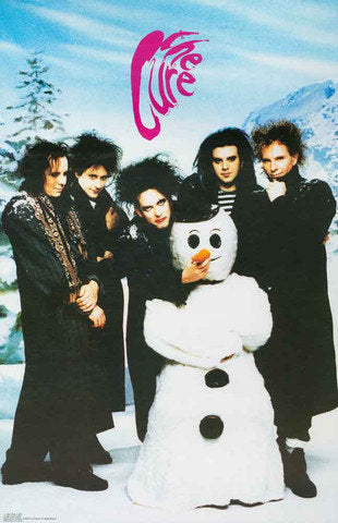 The Cure Robert Smith Snowman Rare Poster