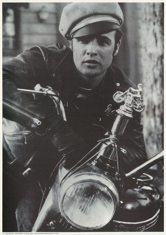 Marlon Brando With Motorcycle   Rare Poster