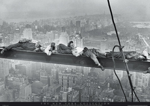 Asleep On A Girder Charles C. Ebbetts Poster 16x20