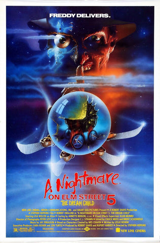 Nightmare On Elm Street 5 Dream Child Freddy Krueger 1989   Rare Vintage Poster