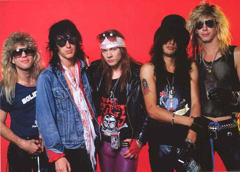 Guns N Roses Band 1980's Rare Music Poster