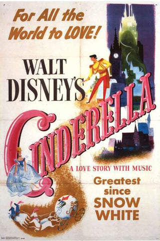 Cinderella Disney Movie Poster 24x36
