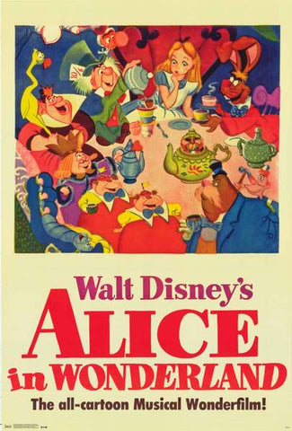 Alice In Wonderland Disney Movie Poster 24x36
