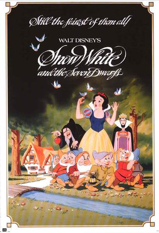 Snow White and The Seven Dwarfs Disney Movie Poster 24x36