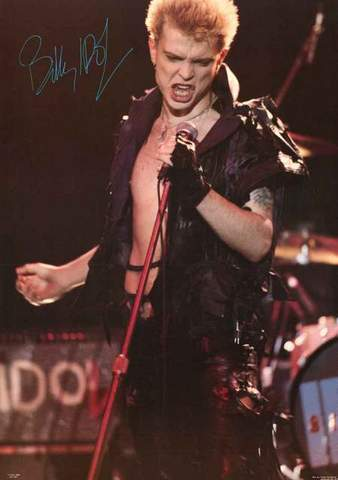 Billy Idol 1984 Rare Poster
