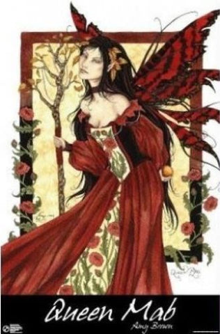 Queen Mab Amy Brown Fantasy Fairy Poster 24x36