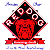 Red Dog Beer Logo Vintage Advertisement Mirror Sign