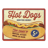 Hot Dogs Served Here 5 Cents Mirror Sign