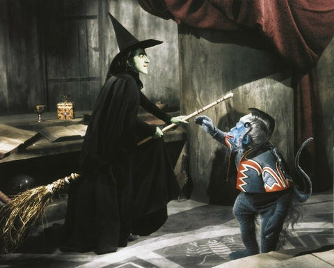 Wizard Of Oz Wicked Witch and Flying Monkey 8x10 Photograph