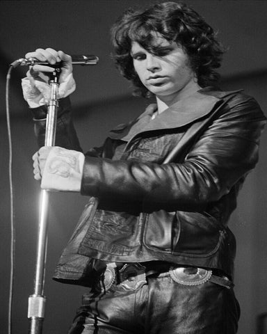 Jim Morrison The Doors   Black Leather 8x10 Photograph