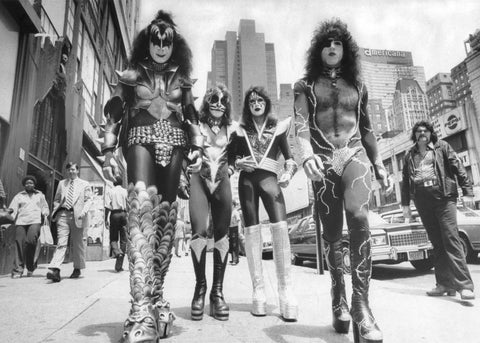 KISS Band NYC B/W  Rare Poster
