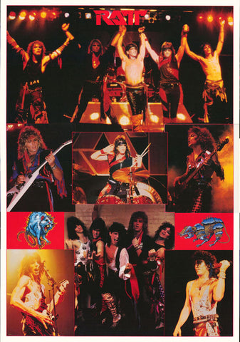 Ratt Collage 1984   Rare Giant Poster