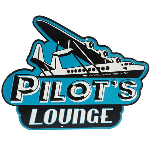 Pilot's Lounge Mirror Sign