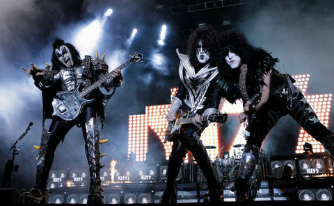 KISS Band Live On Stage Color  Rare Poster