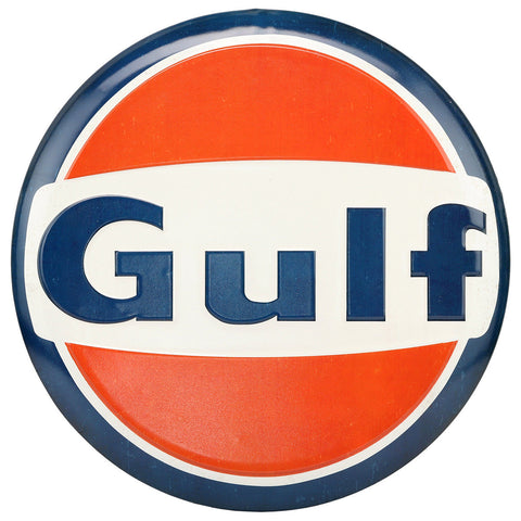 Gulf Gas and Oil Mirror Sign
