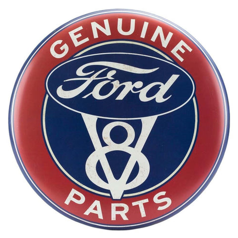 Ford V8 Genuine Parts Mirror Sign