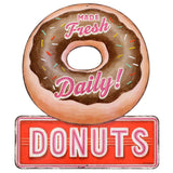 Donuts Made Fresh Daily Mirror Sign
