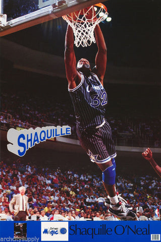 Shaquille O'Neal Orlando Magic 1992 Poster