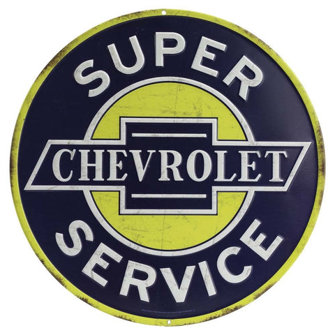 Super Chevrolet Service Mirror Sign