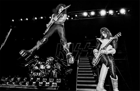 KISS Band Live On Stage B/W  Rare Poster