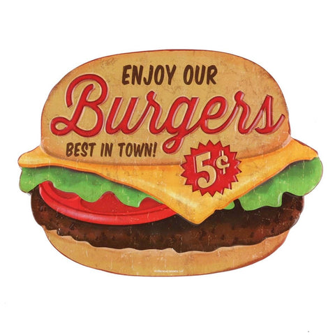 Hamburgers 5 Cents Mirror Sign