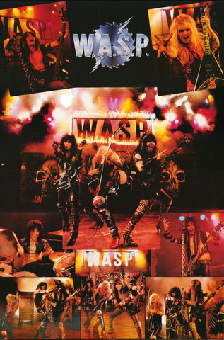 WASP W.A.S.P. Collage 1985   Rare Giant Poster