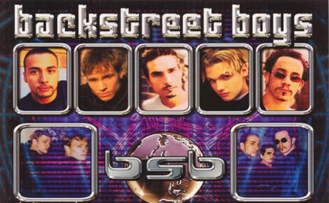 Backstreet Boys Collage 2000 Rare Vintage Poster