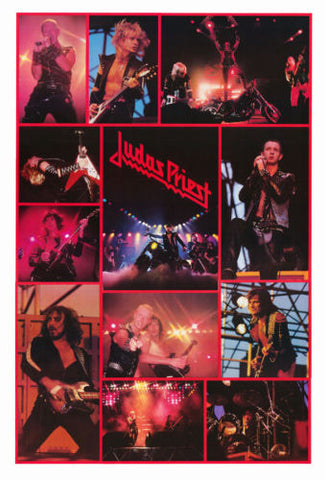 Judas Priest Collage 1982   Rare Giant Poster