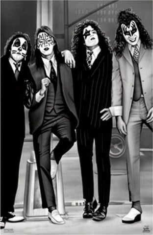 KISS Band Dressed To Kill  B/W  Rare Poster