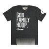 "Youth Courtsmith ""God, Family, Hoop"" -  Basketball Charcoal T-shirts"