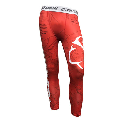 "Youth Courtsmith ""Major Key"" Red XOSkeleton Compression Pants"