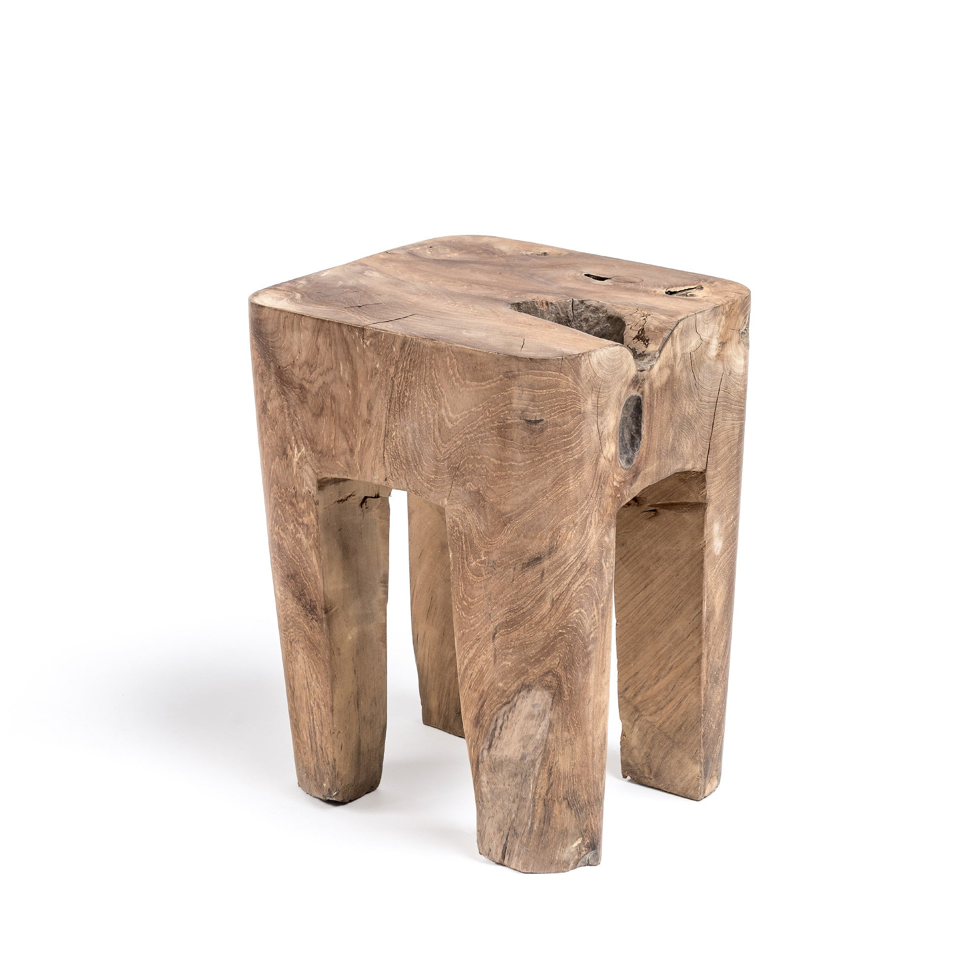 SQUARE COFFEE TABLE ROOT NATURAL Gommaire