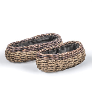 OVAL BASKET ROCCO SET OF 2