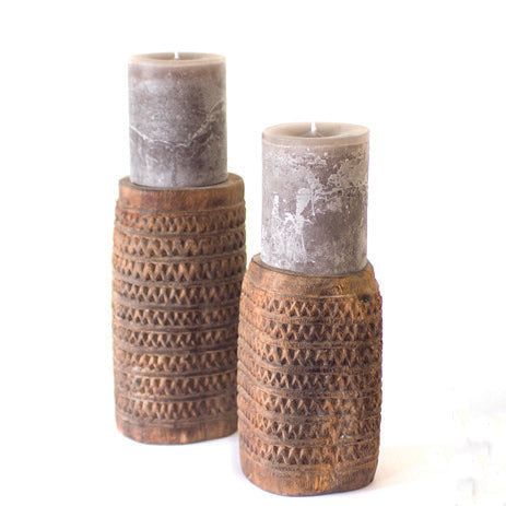 CANDLEHOLDER JECKYLL & HYDE SET OF 2