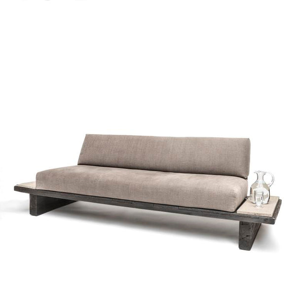 CUSHION SET SOFA CLINT WITH STONE SIDE TABLES