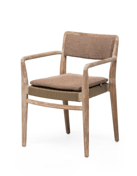 CUSHION BACKREST STACKABLE ARMCHAIR JARED
