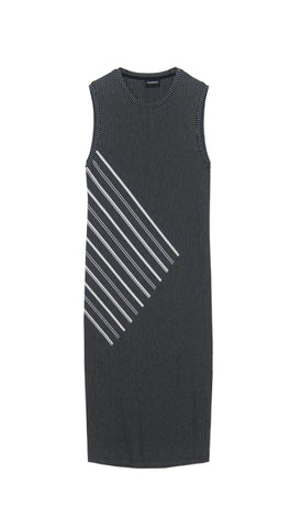 Diagonal Black Dress
