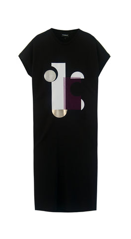 Bauhaus Black T-shirt dress