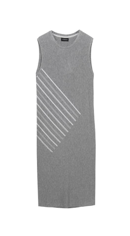 Diagonal Grey Dress