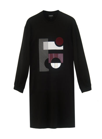 Bauhaus Black Sweatshirt Dress
