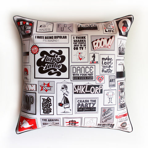CUSHION COVER An uber style statement that will liven up any room..  Tea... click for more information