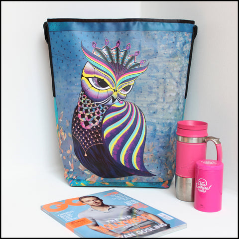 TOTE BAG Spacious vegan Tote bag for Travelers & Owl lovers! Mostly... click for more information