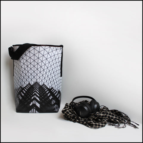 TOTE BAG Spacious vegan Tote bag for Travelers & Monochrome lovers!... click for more information