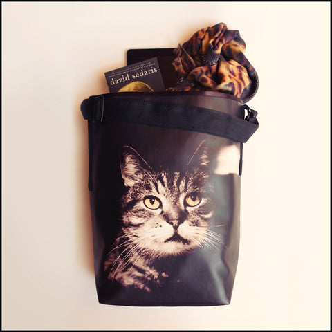 TOTE BAG Spacious vegan Tote bag for Travelers & Cat lovers! Mostly... click for more information
