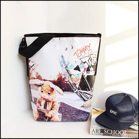TOTE BAG Spacious vegan Tote bag for Travelers & Bunny lovers! Most... click for more information