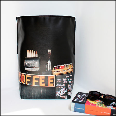 TOTE BAG Spacious vegan Tote bag for Travelers & Coffee lovers! Mos... click for more information