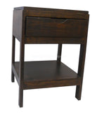 Calla (Side Table with Self & Drawer)