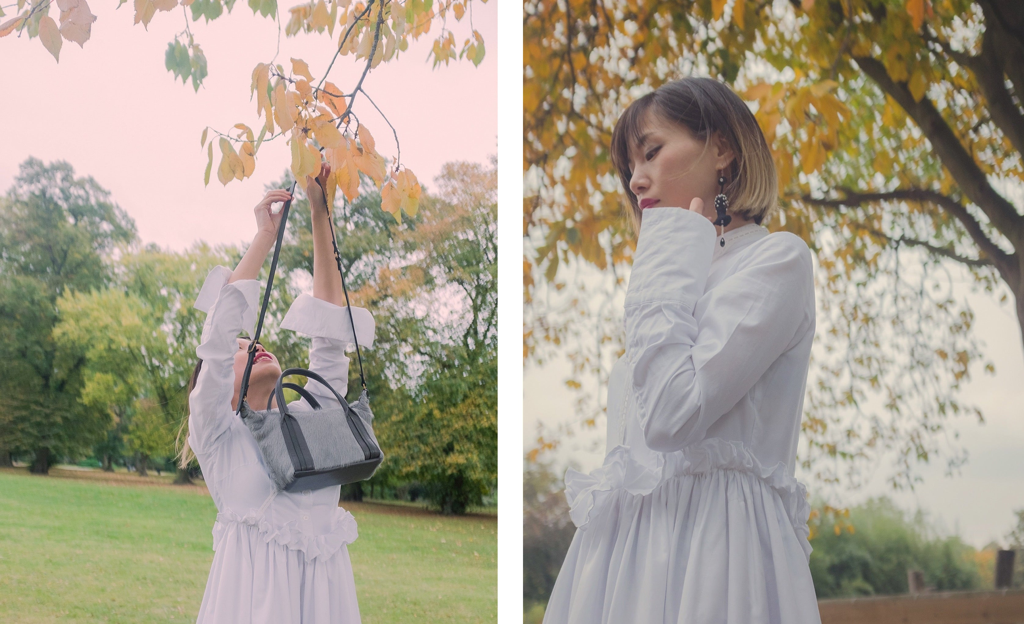Victoria Park London featuring Jas MB London wings traveller bag and YUAN gray coat 9 | On Slowness