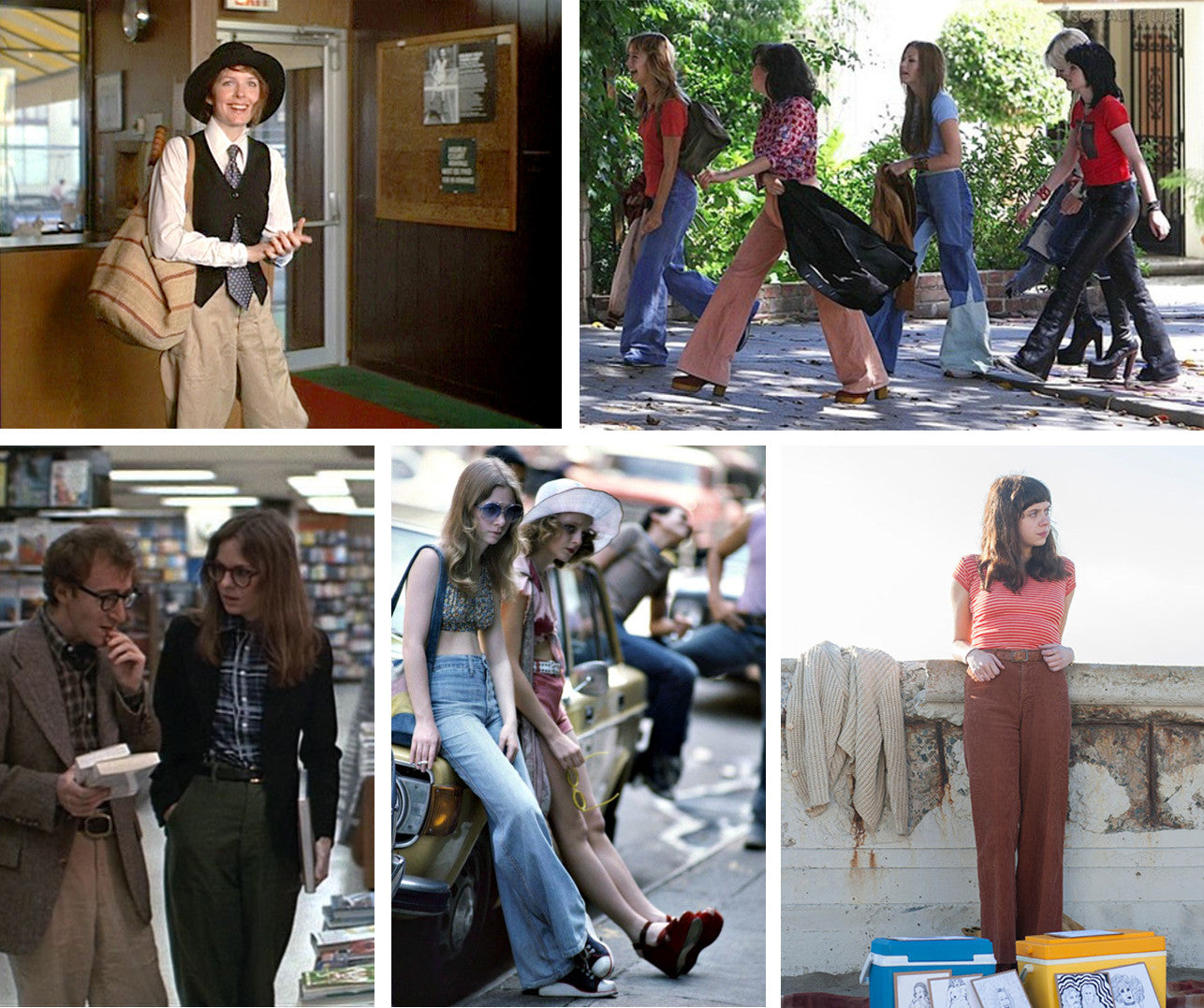 Annie Hall, The Runaways, Taxi driver, Diary of a teenage girl outfits | How to dress 70s style? - Fashion Guide | On Slowness blog