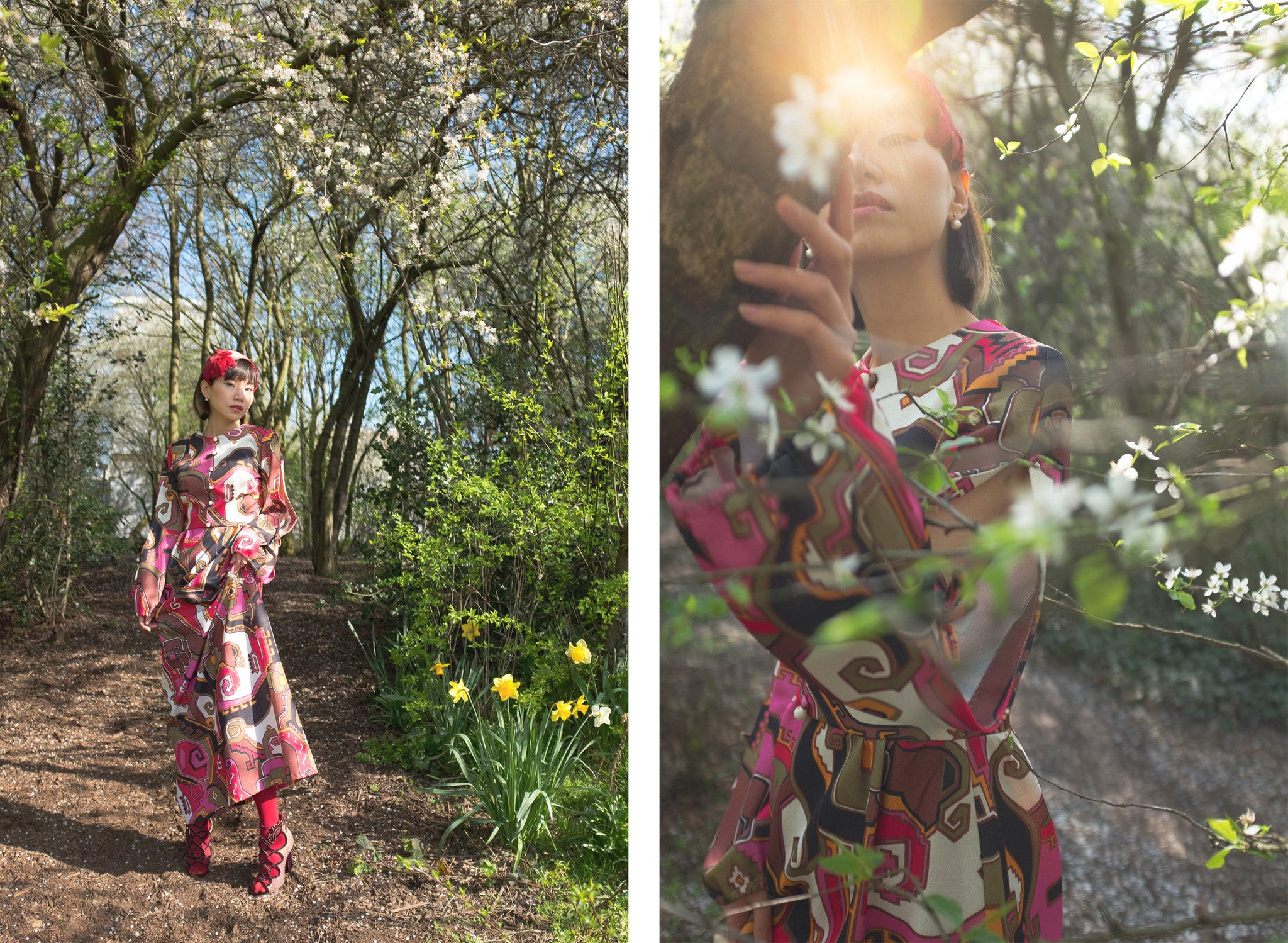 Spring wonderland - a vintage outfit inspired by poetry | On Slowness